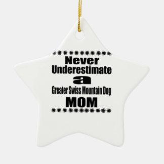 Ornement Étoile En Céramique Ne sous-estimez jamais une plus grande maman