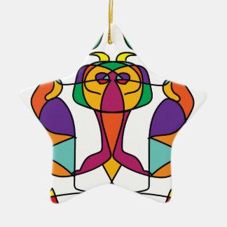 Ornement Étoile En Céramique noa coloré d'illustration d'art de cirque