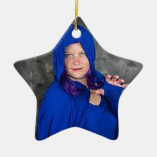 Ornement Étoile En Céramique Noël avec Raven et la cintreuse :)