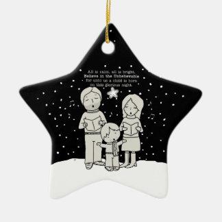 Ornement Étoile En Céramique Noël Caroling