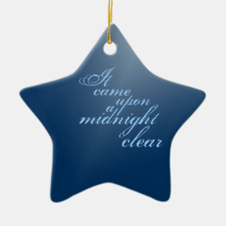 Ornement Étoile En Céramique Noël clair de minuit