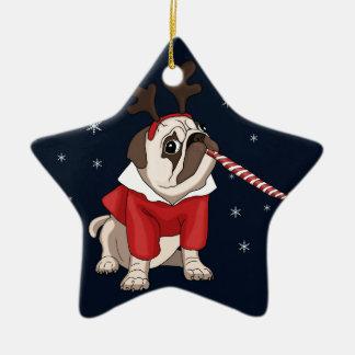 Ornement Étoile En Céramique Noël de carlin