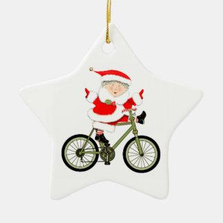 Ornement Étoile En Céramique Noël de cycliste collectable