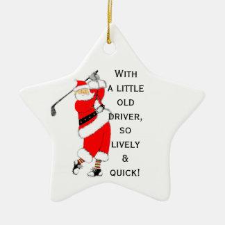 Ornement Étoile En Céramique Noël de golf