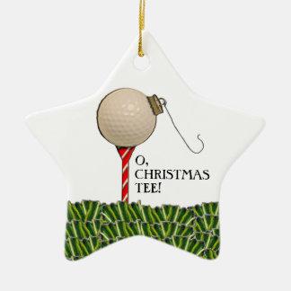 Ornement Étoile En Céramique Noël de golf collectable