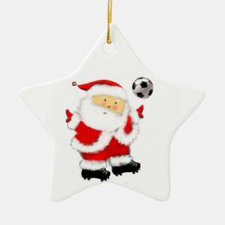 Ornement Étoile En Céramique Noël du football