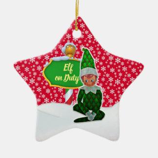 Ornement Étoile En Céramique Noël en service des elfes de FD ornemente 53086A12