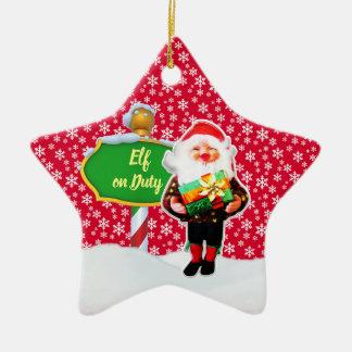 Ornement Étoile En Céramique Noël en service des elfes de FD ornemente 53086A15