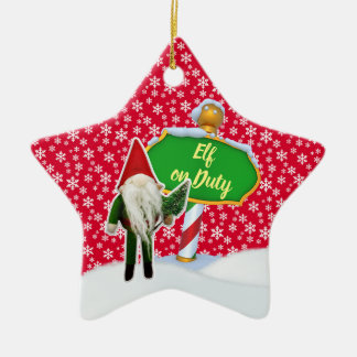 Ornement Étoile En Céramique Noël en service des elfes de FD ornemente 53086A17