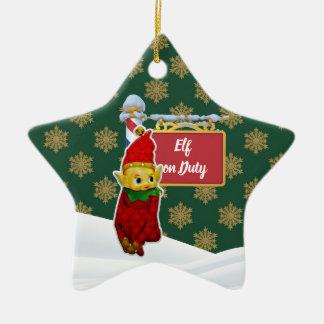 Ornement Étoile En Céramique Noël en service des elfes de FD ornemente 53086B13