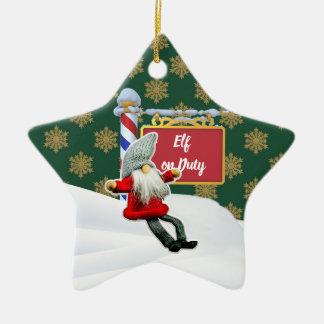 Ornement Étoile En Céramique Noël en service des elfes de FD ornemente 53086B17