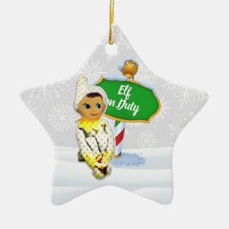 Ornement Étoile En Céramique Noël en service des elfes de FD ornemente 53086C12