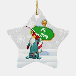 Ornement Étoile En Céramique Noël en service des elfes de FD ornemente 53086C16