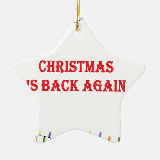 Ornement Étoile En Céramique Noël est de retour encore