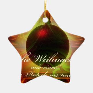 Ornement Étoile En Céramique Noël heureux