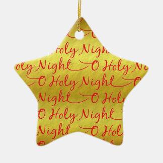 Ornement Étoile En Céramique Noël saint de nuit de feuille d'or