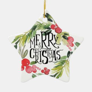 Ornement Étoile En Céramique Noël, vacances, décorations, célébration