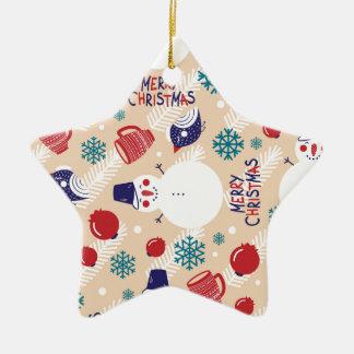 Ornement Étoile En Céramique Noël, vacances, décorations d'arbre, motif