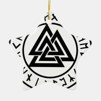 Ornement Étoile En Céramique Noeud païen Valknut d'Odins de symboles