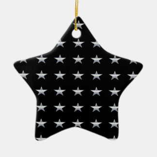 Ornement Étoile En Céramique Noir d'étoiles chanceuses avec la conception