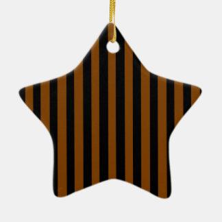 Ornement Étoile En Céramique Noir et Tan