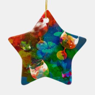 Ornement Étoile En Céramique Nous célébrons la vie dans de pleines couleurs
