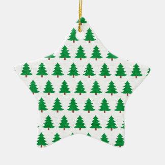 Ornement Étoile En Céramique nouveau blanc de vert de conception de Noël