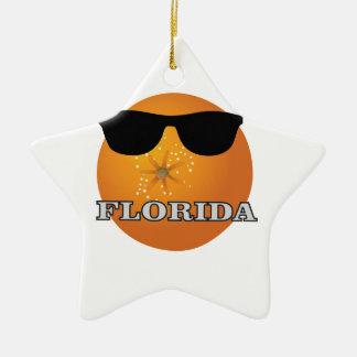Ornement Étoile En Céramique nuances de la Floride