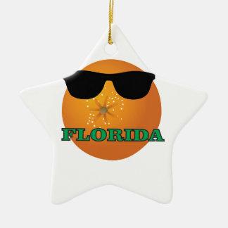 Ornement Étoile En Céramique nuances vertes de la Floride