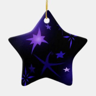 Ornement Étoile En Céramique Nuit étoilée