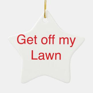 Ornement Étoile En Céramique Obtenez outre de ma pelouse