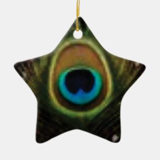 Ornement Étoile En Céramique oeil de paon ouais