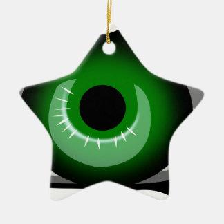 Ornement Étoile En Céramique Oeil vert