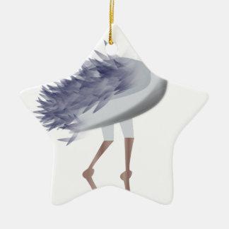 Ornement Étoile En Céramique Oiseau grand