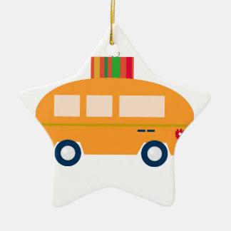 Ornement Étoile En Céramique Or d'autobus de conception