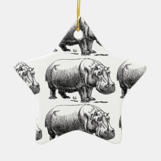 Ornement Étoile En Céramique or d'hippopotame
