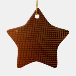 Ornement Étoile En Céramique orange halo