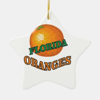Ornement Étoile En Céramique Oranges de la Floride