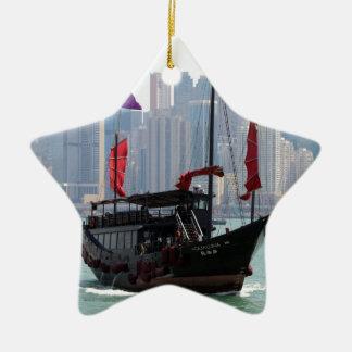 Ornement Étoile En Céramique Ordure chinoise, Hong Kong 2