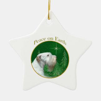Ornement Étoile En Céramique Paix de Sealyham Terrier sur terre