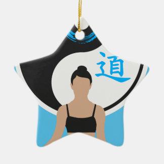 Ornement Étoile En Céramique Paix de yoga de Yin Yang