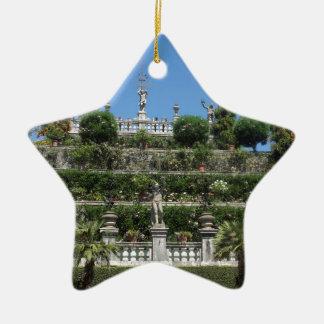 Ornement Étoile En Céramique Palais de Borromeo dans Stresa, Italie
