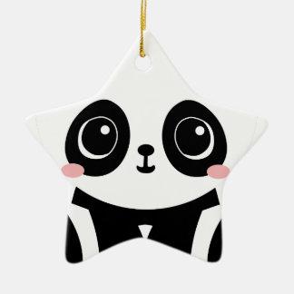 Ornement Étoile En Céramique Panda adorable