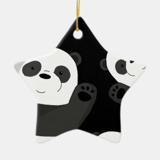 Ornement Étoile En Céramique Pandas mignons