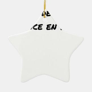 Ornement Étoile En Céramique PANNE DES SENS, DÉCENCE EN PEINE - Jeux de mots