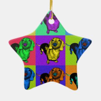 Ornement Étoile En Céramique Panneaux de teckel d'art de bruit