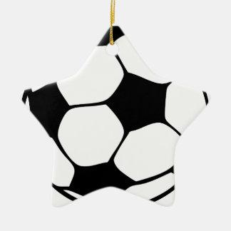 Ornement Étoile En Céramique papa du football