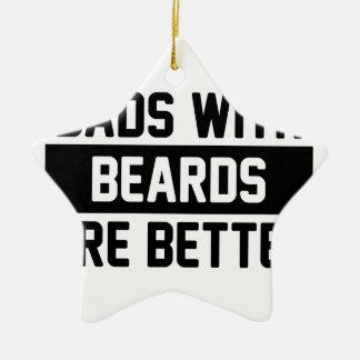 Ornement Étoile En Céramique Papas avec des barbes