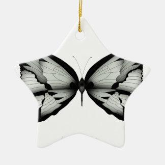 Ornement Étoile En Céramique Papillon sage alpin