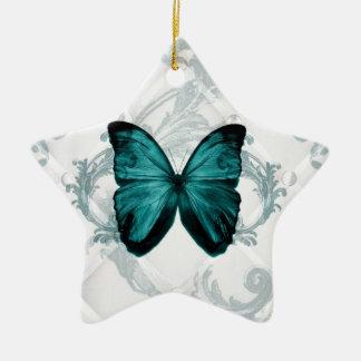Ornement Étoile En Céramique Papillon turquoise de Bohème de Flourish chic
